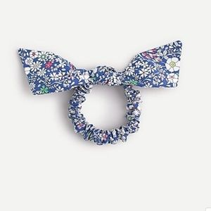 J.Crew Bow scrunchie in Liberty floral prin
